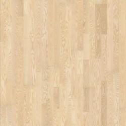 Паркетная доска ясень Фолстербо 2-х пол., бел. мат. лак 2.91кв.м 2423x200x15
