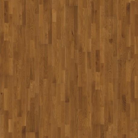 Паркетная доска дуб Бисби 3-х пол., светло-коричневый сат. лак 3,4 кв.м 2423x200x13