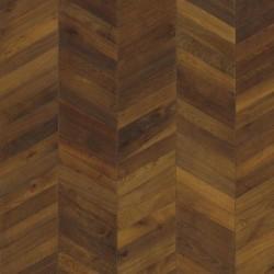 Паркет Французская елка Шеврон темно--коричневый