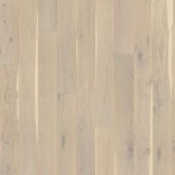 паркетная доска дуб Овес, Кантри, 1-пол., белый мат. лак, щетка, фаски 2000х187х15